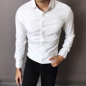 áo sơ mi nam trắng trơn 00