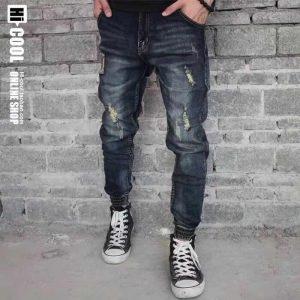 quần jean nam jogger rách QJ5615