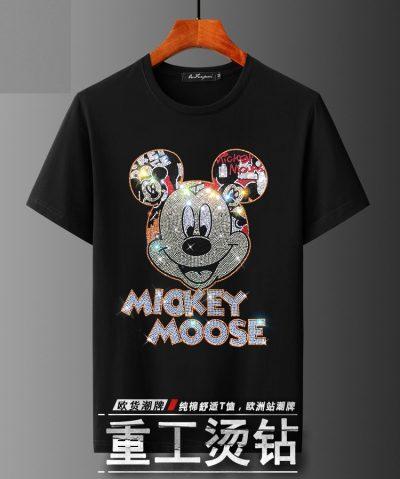 Áo thun nam hoạ tiết chuột Mickey đính đá AT8839